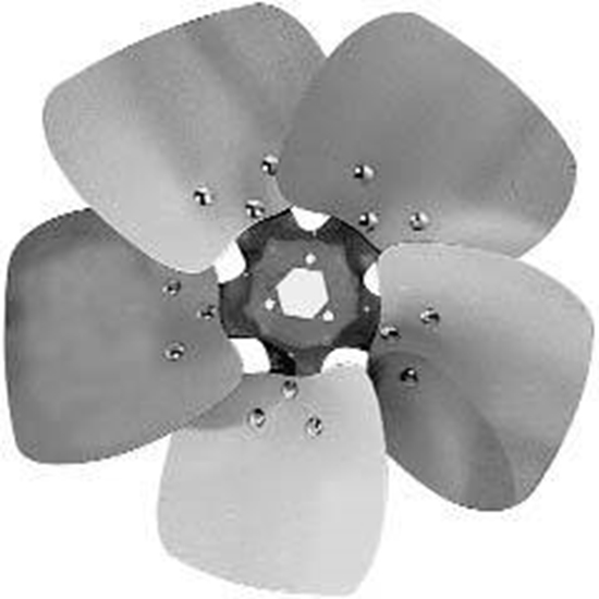 "Picture of 5-Blade 12"" 23° CW Condenser Style, Heavy Duty Propeller"
