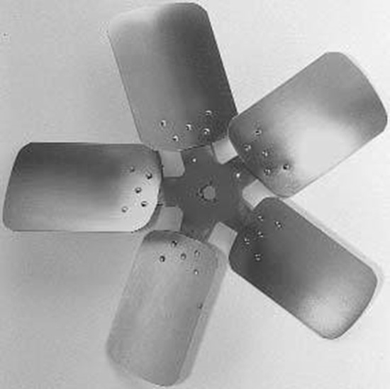 "Picture of 5-Blade 28"" 29° CCW Condenser Style, Heavy Duty Propeller"
