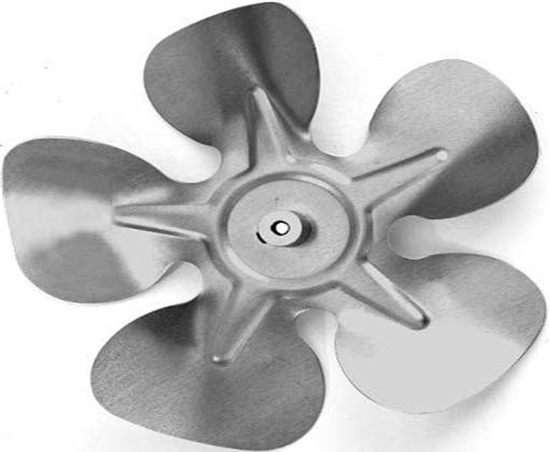 """Picture of 5-Blade 8"""" 18° CCW Fixed Hub Style Propeller"""