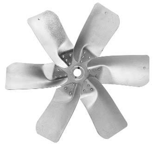 "Picture of 6-Blade 42"" 40° CW Large Steel, Extra Heavy Duty Propeller **Price includes LTL shipping.  Product can ONLY be shipped to the 48 continental US states.  Product will not be shipped UPS.**"