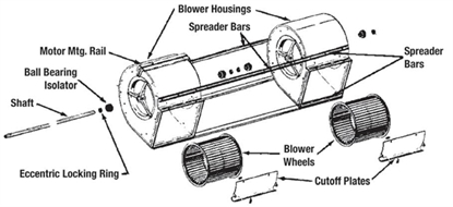 Picture of Twin Blower Parts Kit 2A12-6A, 2A12-9A, 2A12-12A