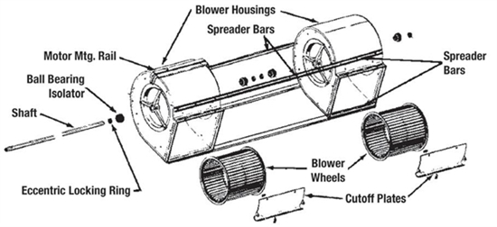 Picture of Twin Blower Parts Kit 2A15-9A, 2A15-11A, 2A15-15A