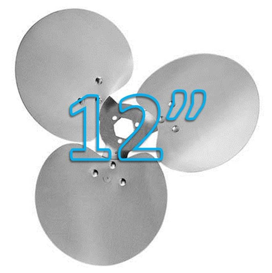 "Picture of 3-Blade 12"" 23° CCW Free Air Propeller"