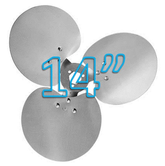 """Picture of 3-Blade 14"""" 23° CCW Free Air Propeller"""