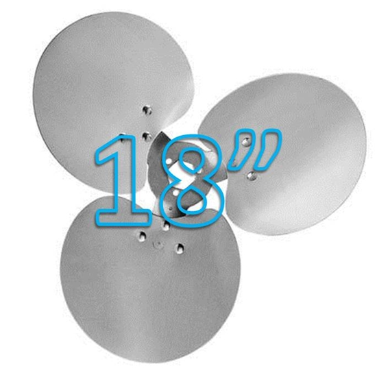 "Picture of 3-Blade 18"" 23° CW Free Air Propeller"