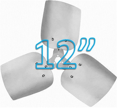 "Picture of 3-Blade 12"" 19° CCW Condenser Style, Heavy Duty Propeller"