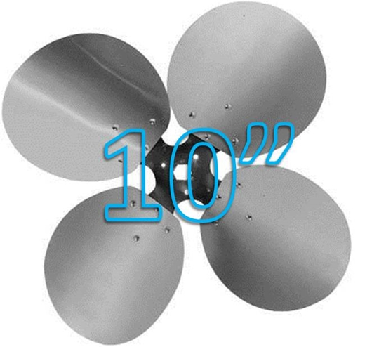 "Picture of 4-Blade 10"" 23° CCW Free Air Propeller"