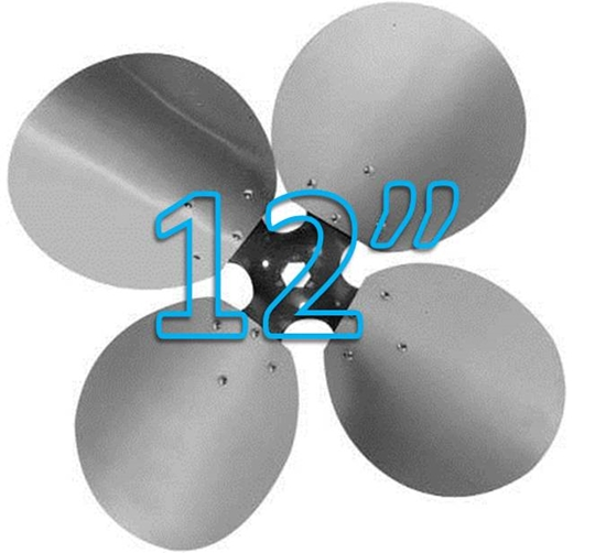 "Picture of 4-Blade 12"" 23° CCW Free Air Propeller"