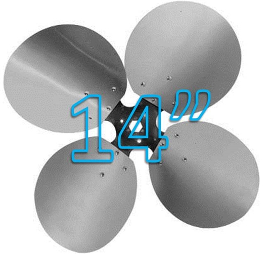 "Picture of 4-Blade 14"" 27° CW Free Air Propeller"