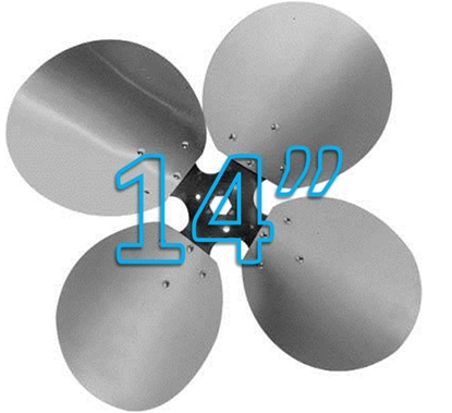 """Picture of 4-Blade 14"""" 27° CCW Free Air Propeller"""