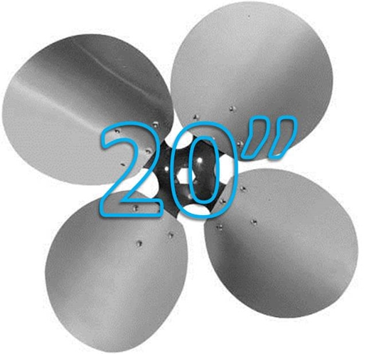 "Picture of 4-Blade 20"" 23° CCW Free Air Propeller"