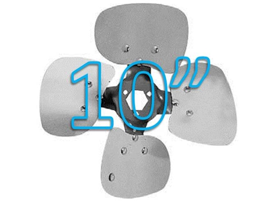 """Picture of 4-Blade 10"""" 33° CCW Condenser Style, Heavy Duty Propeller"""
