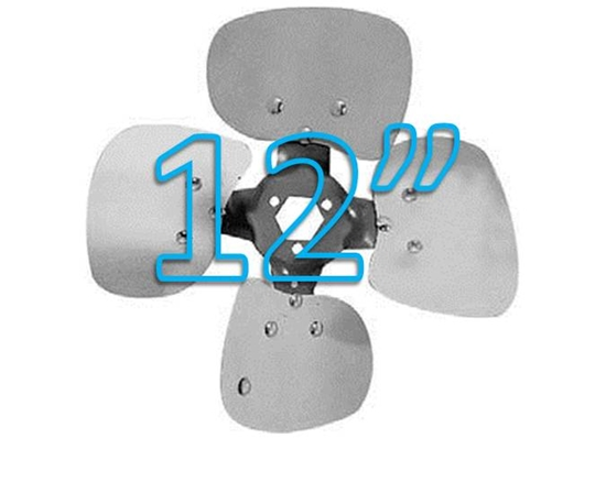"""Picture of 4-Blade 12"""" 19° CCW Condenser Style, Heavy Duty Propeller"""