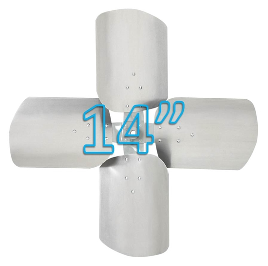 """Picture of 4-Blade 14"""" 19° CW Condenser Style, Heavy Duty Propeller"""