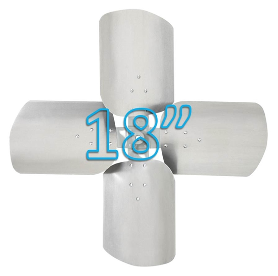 "Picture of 4-Blade 18"" 19° CCW Condenser Style, Heavy Duty Propeller"