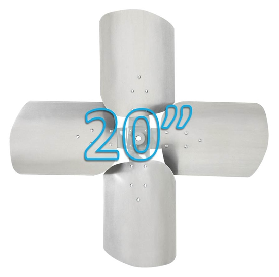 """Picture of 4-Blade 20"""" 19° CCW Condenser Style, Heavy Duty Propeller"""