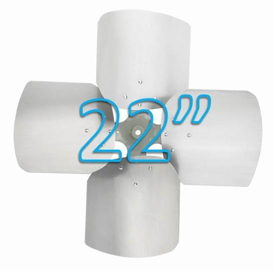 """Picture of 4-Blade 22"""" 26° CW Condenser Style, Heavy Duty Propeller"""