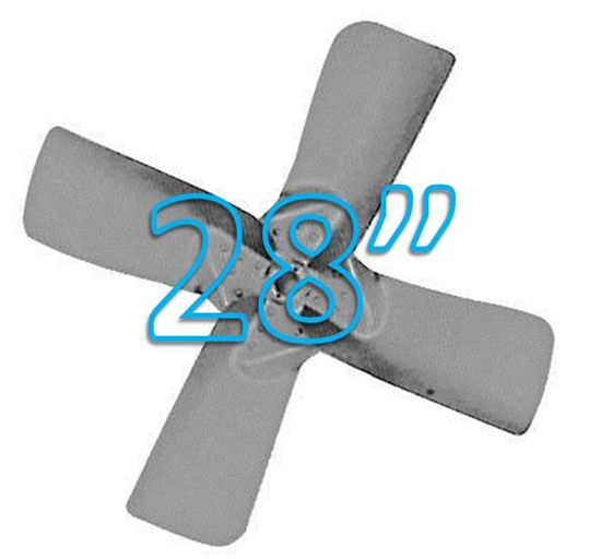 "Picture of 4-Blade 28"" 27° CW Large Steel, Heavy Duty Propeller"